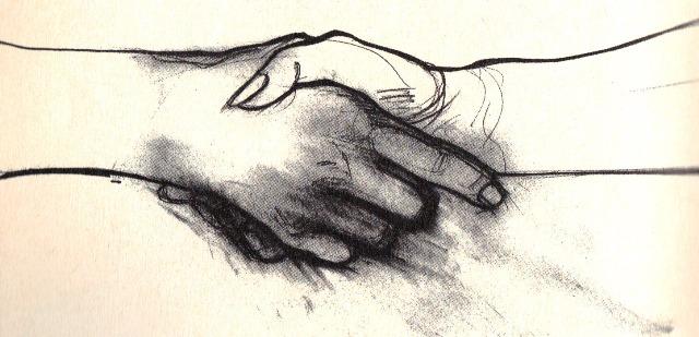 stringere la mano